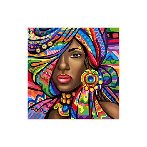 MIsha 5D Diamond Pintura de Diamantes Completo, Mujer gitana, 5D Diamante kit de pintura para decoración de casa, salón, dormitorio (30x30cm)