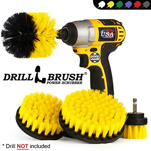 Drillbrush Automotive Soft White Drill Brush - Leather Cleaner - Car Wash Kit - Car Cleaning...
