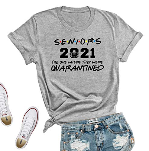 Seniors 2021 Quarantined tshirt, Seniors the one where they were quarantined 2021 T-Shirt, Friends Parody The One Quarantine, Seniors 2021 Shirt, Senior Class of 2021