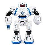 Beetest Ferngesteuerter Roboter für Kinder, JJRC R3 Smart Kampfroboter Spielzeug RC Control Geste Sensor Action Display Singen Tanzen USB Lade Kinder Weihnachten Geburtstagsgeschenk Blau