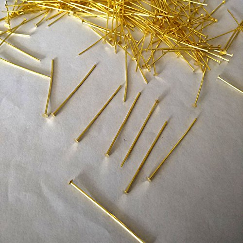 ZP01 Chandelier Connectors Clips Pins For Fastening Crystals Parts, Prism Pins,Chandelier Replacements 300pcs (Gold) -  Zhongpai, 43235-80782