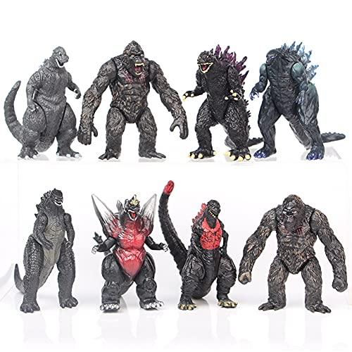 Toy Figure of Godzilla VS Kong King of The Monster 8 PCS