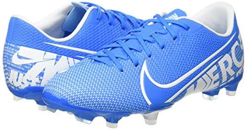 Nike JR Vapor 13 Academy FG/MG, Botas de fútbol Unisex Adulto, Multicolor (Blue Hero/White/Obsidian 414), 36.5 EU