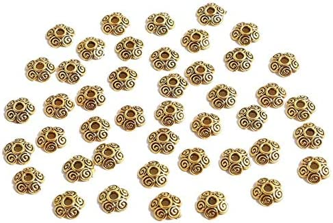 50Pcs Gold Flower Petal shipfree Caps End for Bead Jewelry Charms Superlatite Spacer