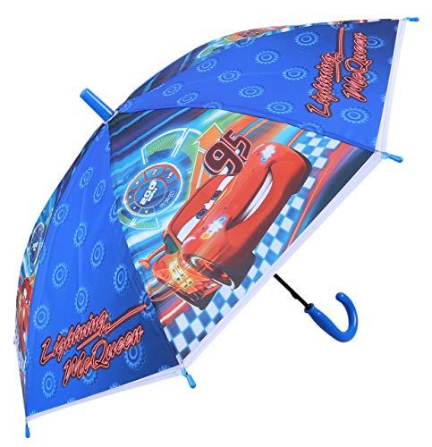 Blauwe paraplu voor kinderen auto's bliksem McQueen Disney Pixar