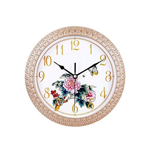 DBL 12 Pulgadas Reloj de Pared Elegante Minimalista Reloj Creativo Europeo Exquisito Patrón de Pared Sala de Estar Dormitorio Moderno Hogar Reloj de Cuarzo Mudo Reloj de Pared