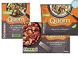 Quorn Pack de 3: Fajita Tiras, Salchichas de cumberland & Craqueo bolas de arándano | Vegano