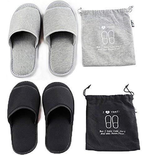 Zapatillas abiertas Sandalias portátiles de verano Mulas plegables antideslizantes Zuecos interior Zapatos casa Luz cálida lengüeta Cómodo para viajar Piscina hotel Baño Plano Spa Sala