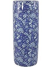 Geko Vintage blå och vita tusenskönor design keramiskt paraplyställ