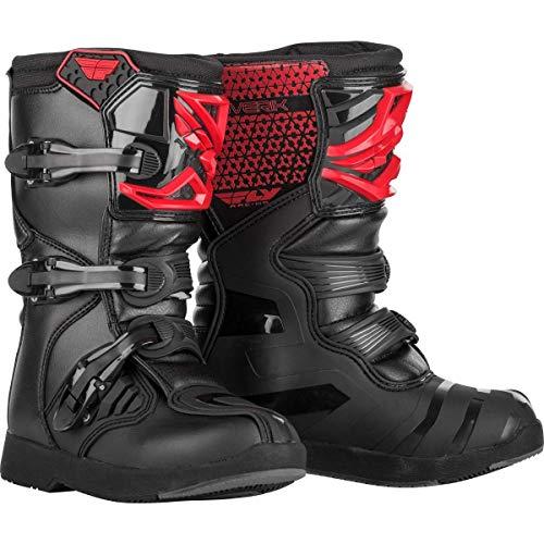 Fly Maverik Boys MX Boots 38 EU Red Black