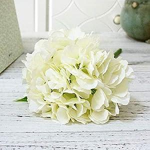 Artificial Peony Flower Home Wedding Party Birthday NewYear ValentinesDay Floral Decor Silk Hydrangeas Vase Arrangement,white