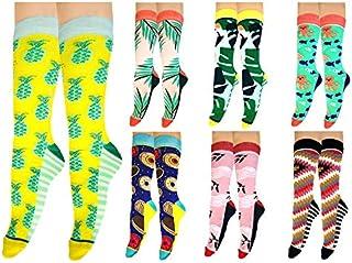 SSK superskunk, Calcetines SSK (pack de 7) Todos los modelos calcetines divertidos y originales, regalo perfecto para pareja, familia, amigos, colores vivos