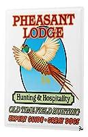 なまけ者雑貨屋 Pheasant Hunting Shooting expert guide dogs】 ブリキ 看板 レトロ アメリカン 雑貨 ヴィンテージ風