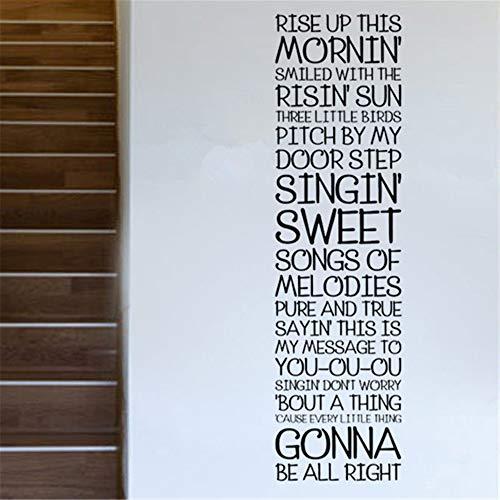 etiqueta de la pared pegatinas decorativas pared Rise Up This Morning Sun Las melodías dulces de Singin estarán bien para el dormitorio de la sala de estar El dormitorio de los niños