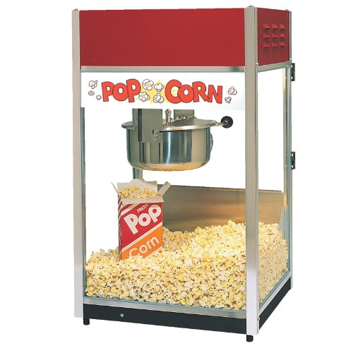 Best Buy! ''Ultra'' 60 Popper Popcorn Machine, 18''W x 16''D x 31''H, 6 ounce E-Z Kleen kettle, twin...