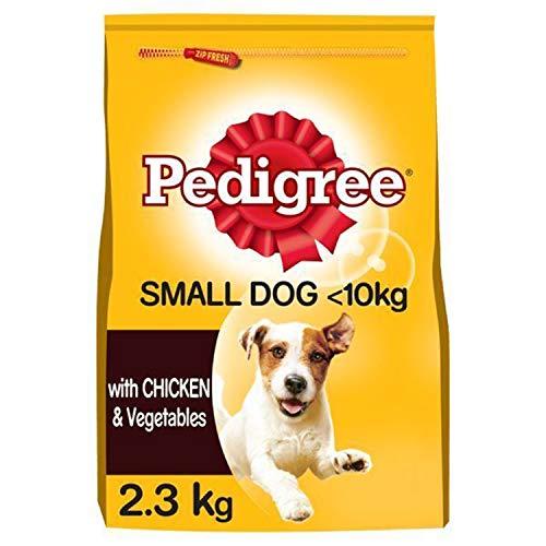 Pedigree Trockenfutter für ausgewachsene kleine Hunde mit Huhn und Gemüse, 2,3 kg