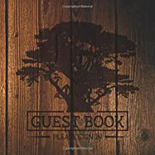 Guest Book: Cedar Tree on Wood Vacation Rental Log - 197 Guest Entry Pages with Prompts - 8.25