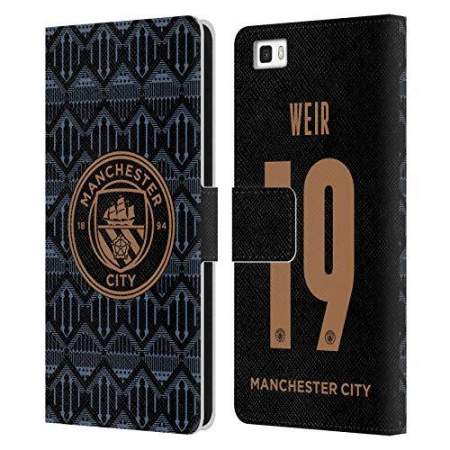 Head Case Designs Licenciado Oficialmente Manchester City Man City FC Caroline Weir 2020/21 Mujer Lejos Kit Grupo 1 Carcasa de Cuero Tipo Libro Compatible con Huawei P8lite / ALE-L21