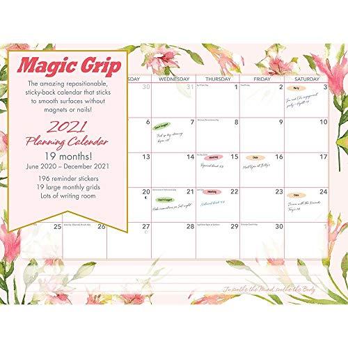 Calendar Ink, Floral Watercolor Jumbo Magic Grip Wall Calendar