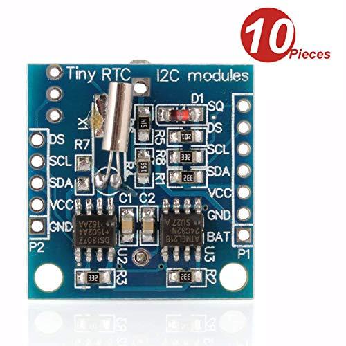 DollaTek 10 Pezzi minuscoli RTC I2C DS1307 AT24C32 modulo Orologio in Tempo Reale per Arduino AVR Arm PIC 51