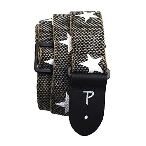 Perri's Leathers Ltd. - Guitar Strap - Cotton - Deluxe - Distressed -...