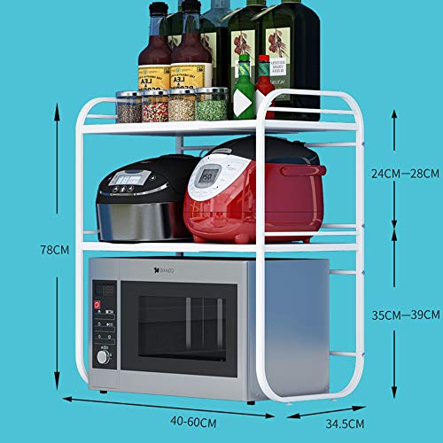 plank Intrekbare keuken rek, magnetron, oven rek, rijst fornuis kast opslag