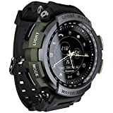 LOKMAT Sports Anolog Digital Smart Watch Men Boys Waterproof Bluetooth Smart Wrist Watch, Smartwatch with Walking Calories,Remote Camera, Call/SNS/SMS Reminder for iOS and Android Smartphone (Green)