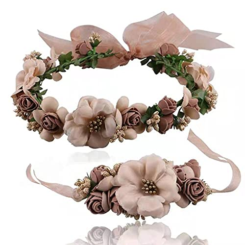 Coroncine Fiori per Capelli, Coroncina Fiori per Capelli Fiori per Capelli Comunione per Hat Ornament Party Festival Nozze
