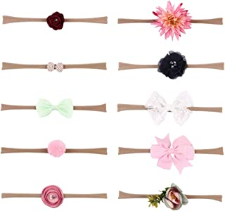 Vektenxi Premium Quality Baby Kids Girls Wave Spot Bowknot Headband Elastic Turban Headwrap Red