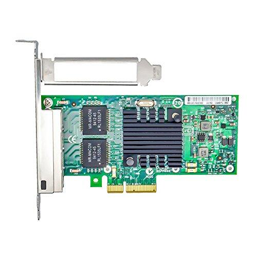 Jeirdus with Intel 82580 Chipset I340-T4 E1G44HT 1G Gigabit Ethernet Network Adapter (NIC), Quad Copper RJ45 Ports, PCI Express 2.0 X4