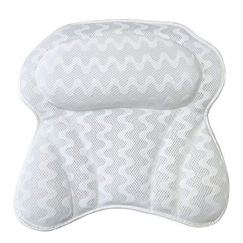 3D Net Pattern Butterfly Shape Bath Pillow Quick Dry Bath Pillow Lavable Unique Bathtub Pillow Bath Pillow Butterfly Shape Ergonomic Bathtub Cushion for Neck, Head Shoulders