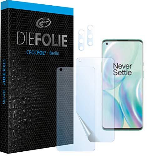 Crocfol Schutzfolie vom Testsieger [2 St.] kompatibel mit OnePlus 8 Pro- selbstheilende Premium 5D Langzeit-Panzerfolie inkl. Kamera Schutzfolien (Hüllefit)