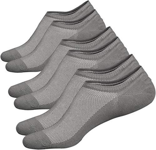 ZYHJ - Calcetines de algodón para hombre, corte bajo, antideslizantes, color 5 (3 pares de grises), 5-9