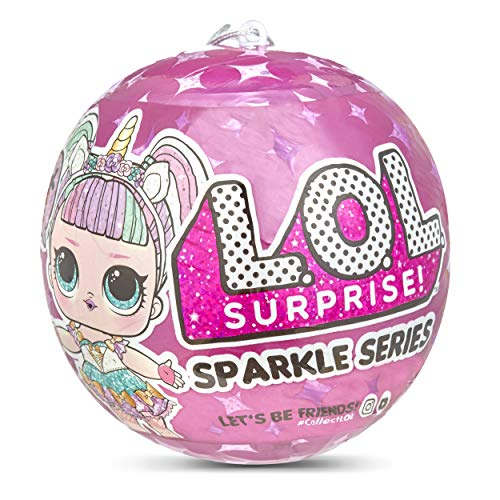 L.O.L. Surprise!- Sparkle Series con Acabado de Purpurina Y 7 Sorpresas, Multicolor, única (MGA Entertainment UK LTD 560296)