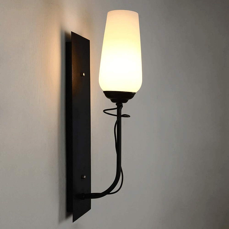 Hai Ying   Kreative Zimmer Wandlampe Schlafzimmer Nacht einfache amerikanische Glas Wandleuchte Persnlichkeit Wohnzimmer TV Hintergrund Wandlampe