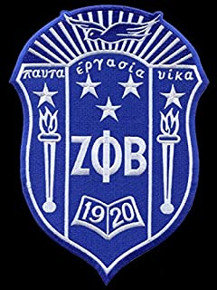 Zeta Phi Beta Shield Cotton Emblem Patch 5