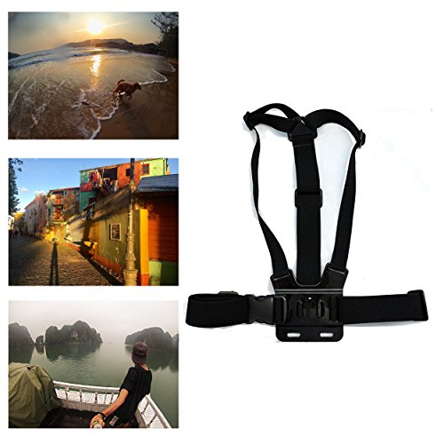 Navitech Adjustable Elastic Body Chest Strap Mount Belt Harness Compatible with The Victure Sports Action Camera WiFi 14MP Full HD 1080P