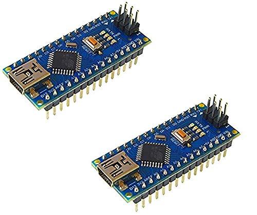 AptoFun Nano con Org.ATmega328P/CH340C Chip Development Board compatibile con Arduino (2 Nano blue)