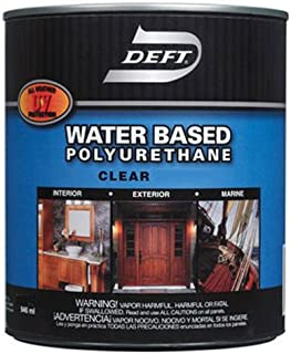 Deft Interior Exterior Water-Based Polyurethane Clear Satin Finish, Quart