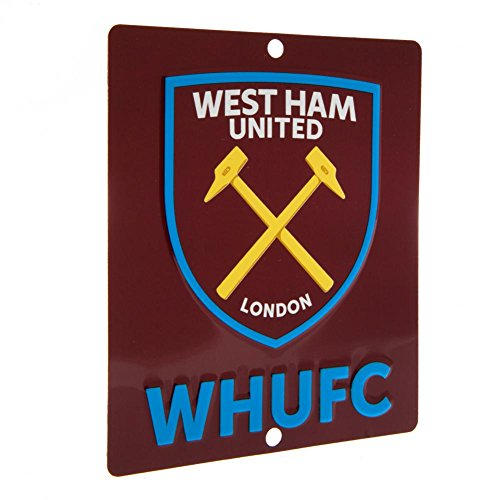 West Ham United 3D Logo Vensterbord