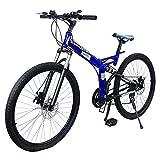 CENTURFIT Bicicleta Montaña Rodada 26-21 Velocidades Azul