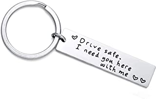 OSIANA Drive Safe Keychain Handsome I Love You Trucker Gifts for Husband Dad Boyfriend Gifts Valentines Day Father's Day Birthday Gift