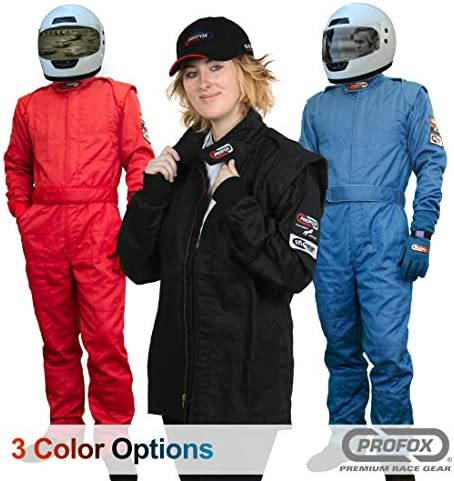 PROFOX-102 Black Small Jacket Auto Racing Fire Resistant Single Layer SFI 3.2A//1 Racing Fire Suit Jacket only