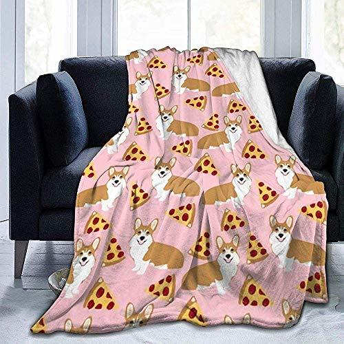 Fleecedecke Moderne Walisische Corgi Pizza Lustige Hund Haustier Tier Portrait Für Kaltes Wetter Bauernhaus Hochzeitsgeschenk Ultra Gemütlich Und Qualität Muster Decke Fleecedecke 102 X 127 cm