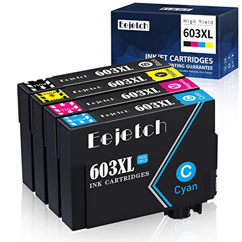 Eejetch 603XL Cartucce Sostituzione per Epson 603 XL Cartucce d'inchiostro per Epson Expression Home XP-3100 XP-4100 XP-2100 XP-2105 XP-3105 XP-4105, Epson Workforce WF-2810 WF-2830 WF-2835 WF-2850