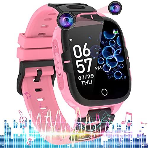 Smartwatch niños, Reloj Inteligente para niños con función de Llamada S0S, Doble cámara, 14 Juegos, Reproductor de músicaMP3, Calculadora, Reloj Despertador, para niños y niñas de 3 a 12 años
