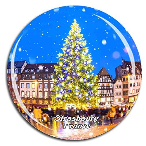 Weekino Frankreich Place Kleber Strasbourg Kühlschrankmagnet 3D Kristallglas Touristische Stadtreise City Souvenir Collection Geschenk Starker Kühlschrank Aufkleber