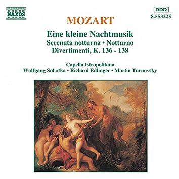 Mozart: Kleine Nachtmusik (Eine) / Serenata Notturna / Divertimenti