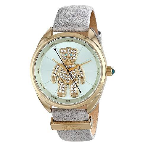 [ヴィヴィアン ウエストウッド ]Vivienne Westwood レディース テディベア ジルコニア ライムグリーン グレー 革ベルト VV103BLGY 腕時計 [並行輸入品]