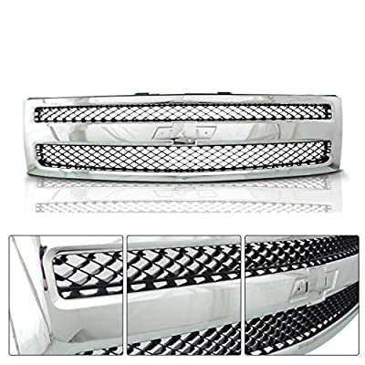 Make Auto Parts Manufacturing Front Grille Assembly Chromed Shell Black Mesh Insert For Chevrolet Silverado 1500 2007 2008 2009 2010 2011 2012 2013 - GM1200572